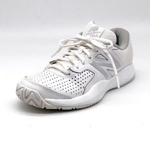 New Balance 696 White Leather Sneakers
